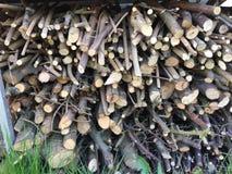Stapel van houten stokken Royalty-vrije Stock Afbeelding