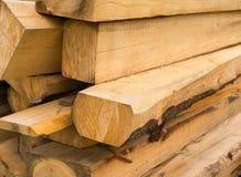 Stapel van houten stralen stock foto's