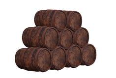 Stapel van houten vat royalty-vrije stock fotografie