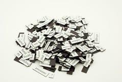 Stapel van Italiaanse woorden Stock Foto