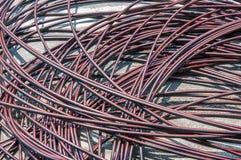 Stapel van kabels op betonweg royalty-vrije stock foto