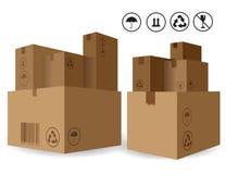 Stapel van Karton Bexes Stock Foto