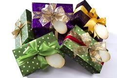 Stapel van Kerstmisgiften Stock Afbeelding