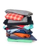 Stapel van kleding Stock Foto