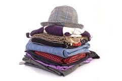 Stapel van kleren royalty-vrije stock foto