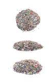Stapel van kleurrijke geïsoleerde lovertjes Royalty-vrije Stock Foto