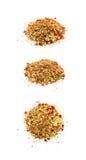 Stapel van kleurrijke geïsoleerde lovertjes Royalty-vrije Stock Fotografie