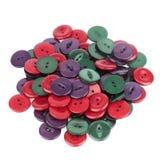 Stapel van Kleurrijke Knopen Stock Afbeelding
