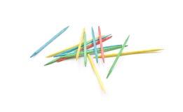 Stapel van kleurrijke tandenstokers Stock Afbeeldingen