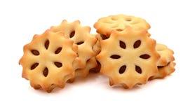 Stapel van koekje, ananasjam stock afbeelding