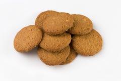 Stapel van koekjes die op witte achtergrond worden geïsoleerd? royalty-vrije stock foto's