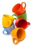 Stapel van koffiekoppen Stock Afbeeldingen