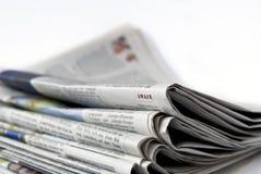Stapel van kranten Stock Foto