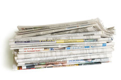 Stapel van kranten Royalty-vrije Stock Foto