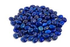 Stapel van lapis lazuliparels. Royalty-vrije Stock Fotografie