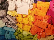 Stapel van Legos Royalty-vrije Stock Foto's