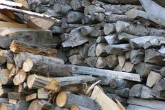 Stapel van logboeken Stock Fotografie