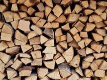 Stapel van logboeken of stapel van brandhout Royalty-vrije Stock Foto's