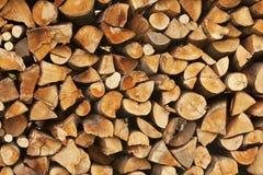 Stapel van logboeken voor brand Stock Foto