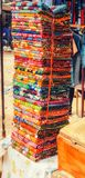Stapel van materiaal in West-Afrika stock foto's