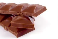 Stapel van melkchocola royalty-vrije stock foto