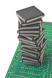 Stapel van microchips Royalty-vrije Stock Fotografie