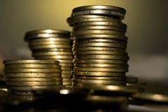 Stapel van muntstukken royalty-vrije stock afbeeldingen