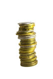 Stapel van muntstukken Stock Foto