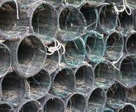 Stapel van netto vissen stock fotografie