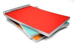 Stapel van notitieboekje op wit Stock Afbeelding