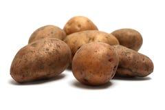 Stapel van organische ruwe aardappels royalty-vrije stock afbeelding