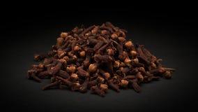 Stapel van Organische zwarte kruidnagel (Syzygiearomaticum) Royalty-vrije Stock Afbeelding