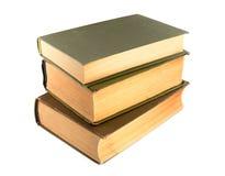 Stapel van oud boek dat op een wit wordt geïsoleerdc Royalty-vrije Stock Foto's