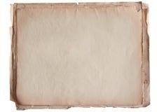 Stapel van oud die document op wit wordt geïsoleerd Stock Afbeelding