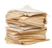Stapel van Oud document stock afbeelding