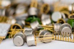 Stapel van oude condensatoren Royalty-vrije Stock Afbeelding