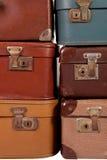 Stapel van oude koffer Stock Foto