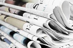 Stapel van oude kranten Royalty-vrije Stock Afbeeldingen