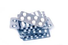 Stapel van pillen Stock Foto's