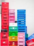 Stapel van plastic container Stock Fotografie