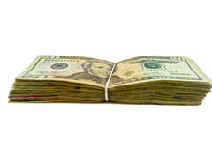 Stapel van $20 rekeningen Stock Foto's