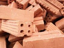 Stapel van rode bakstenen Stock Foto