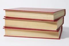 Stapel van rode boeken. Royalty-vrije Stock Foto