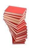 Stapel van rode boeken Stock Afbeelding
