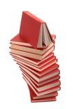 Stapel van rode boeken Stock Fotografie