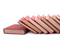 Stapel van rode boeken Royalty-vrije Stock Afbeelding
