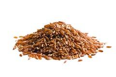 Stapel van rode rijst stock fotografie