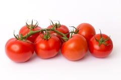 Stapel van rode tomaten Stock Afbeeldingen