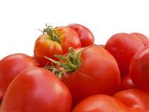 Stapel van rode tomaten stock fotografie