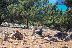 Stapel van rotsen Stock Fotografie